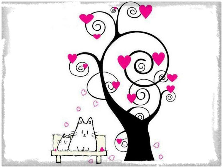 Dibujos Bonitos Y Faciles Para Colorear: Imagenes De Amor Dibujos Animados Lápiz