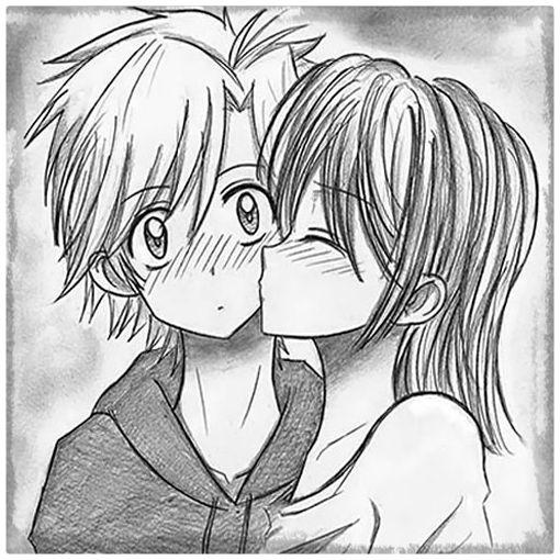 anime amor sombreados dibujos a lapiz: Imagenes De Dibujos Amor A Lapiz
