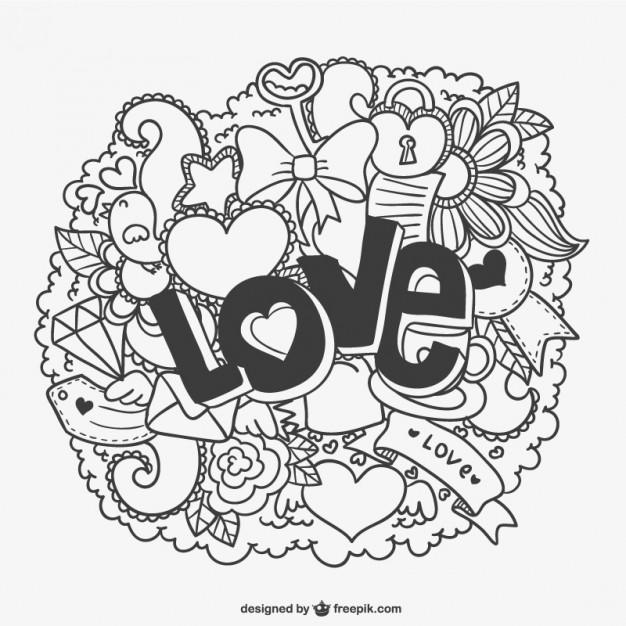 Imagenes De Dibujos Amor Para Colorear