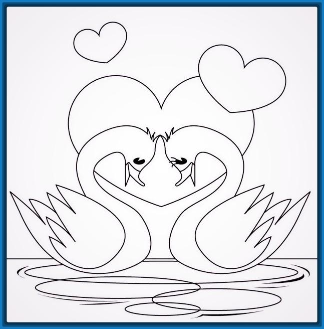 dibujos-faciles-de-amor-para-colorear - Fotos de amor & Imagenes de amor