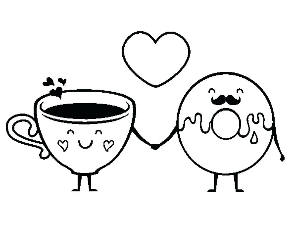 Donuts Para Colorear Y Dona Para Dibujos De Donas Kawaii