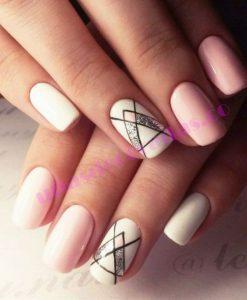 uñas-decoradas-rosa-con-blanco--247x300