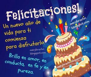 Felicitaciones feliz cumpleaños amor fe disfruta mucho postales cristianas imagenes