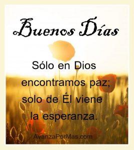 Buenos días cristianos