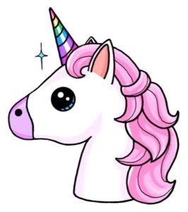 Dibujos kawaii de unicornios faciles