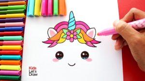 Dibujos kawaii de unicornios para pintar