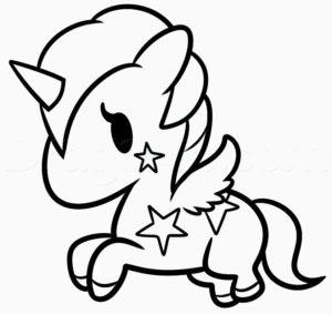 dibujos kawaii de comida para colorear Bonito Colorear Unicornios Con Alas Para E Colorear Unicornios Kawaii