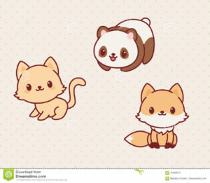 kawaii-animals-set-part-vector-illustration-cute-kitten-panda-fox-70560571