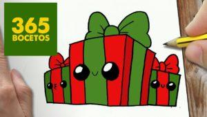 Dibujos kawaii de navidad de santa