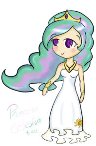 Humanized_princess_celestia_by_nekopau-d45t3pb