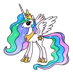 Dibujos kawaii de unicornios fáciles