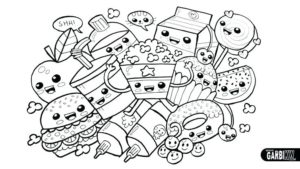 Dibujos kawai para pintar