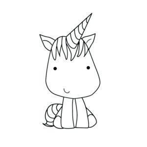 Dibujos kawaii de unicornio para pintar