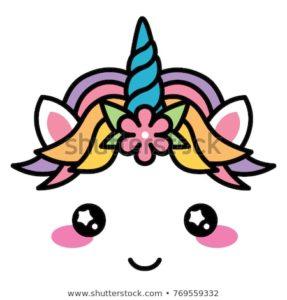 kawaii-cute-unicorn-face-rainbow-450w-769559332