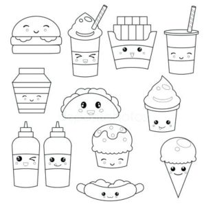 kawaii-para-colorear-stock-illustration-cute-faces-emoticons-fresh-para-dibujos-kawaii-para-colorear-unicornios