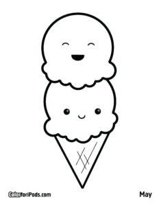 pagina-para-colorear-de-helado-para-sol-y-dibujos-para-colorear-de-helados-kawaii