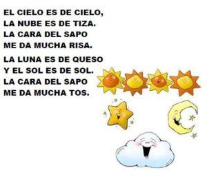 Poema con valores para niños pequeños