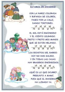 Poesías para niños de quinto grado