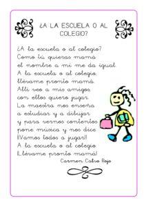 Poesías para niños de tercero