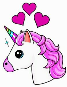 Dibujos de unicornios fáciles para niños