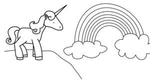 Dibujos de unicornios faciles para colorear