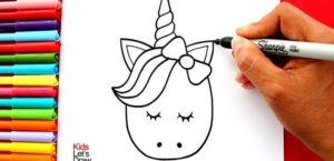 aprende-a-dibujar-un-unicornio-kawaii-facil-how-to-draw-a-cute-unicorn-head-795x385