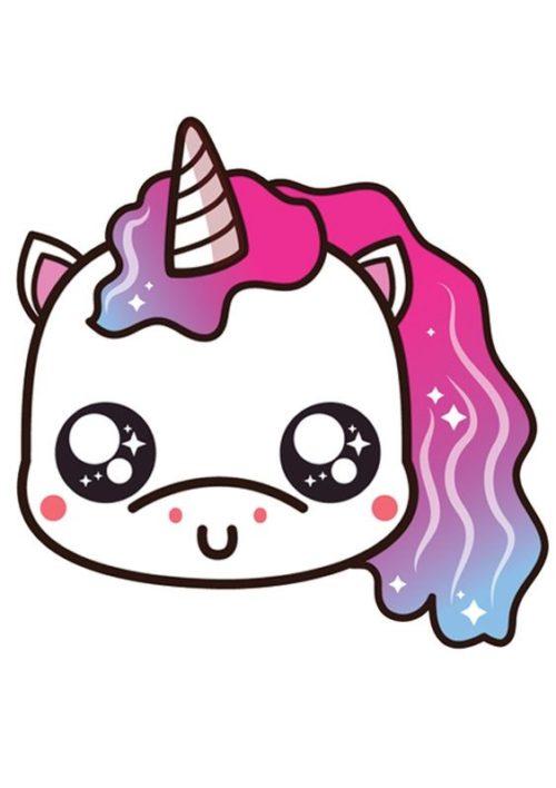 Imagenes de unicornios kawaii para dibujar
