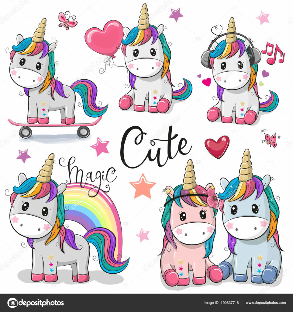 Unicorns pictures to color in