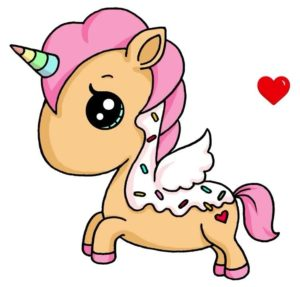 imagenes-de-unicornios-kawaii-galleta