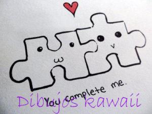 dibujos de amor kawaii