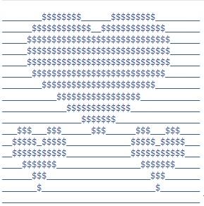 figuras del arte ASCII