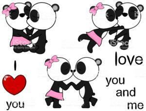 Imágenes de amor Besos dibujos