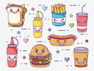 coleccion-comida-rapida-dibujos-kawaii_24640-1572