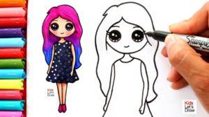 Dibujos kawaii de niñas