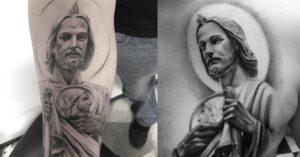 Tatuajes san Judas Tadeo espalda