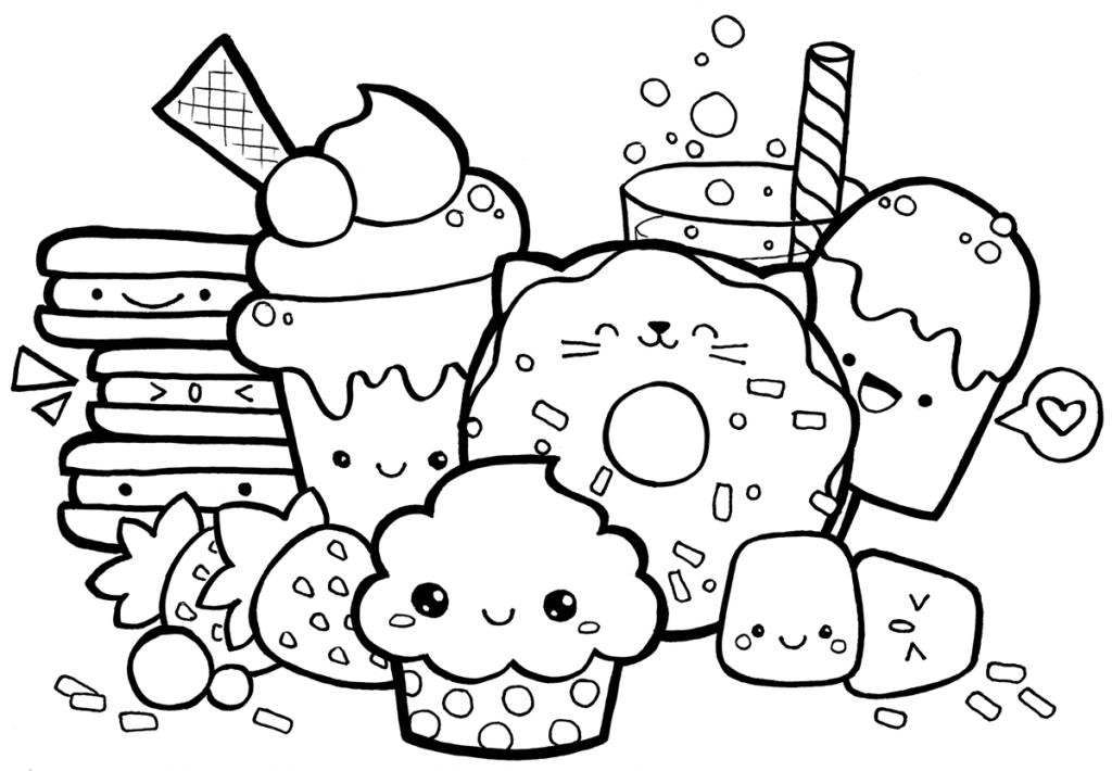 Dibujos para colorear kawaii
