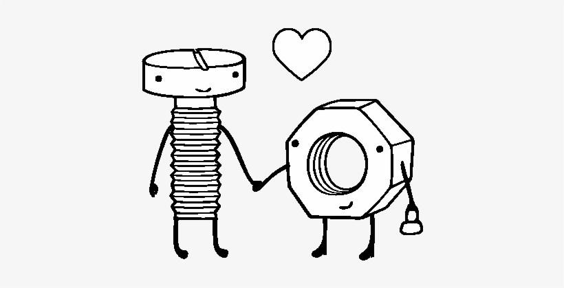 Dibujos animados de amor en blanco y negro