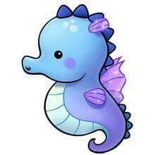 Dibujos kawaii de animales acuáticos