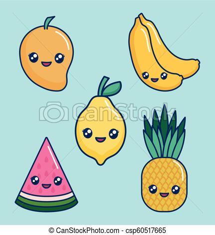 fruta kawaii
