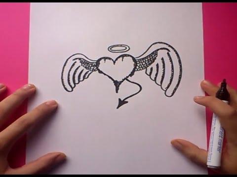 Dibujo de amor a distancia