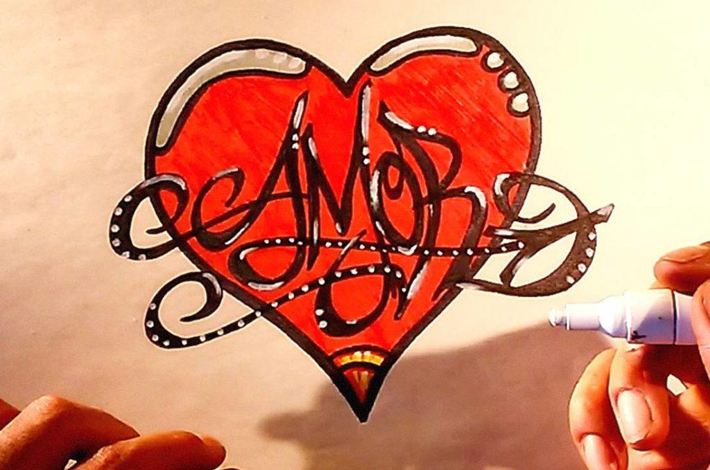 Dibujos faciles de amor para dibujar
