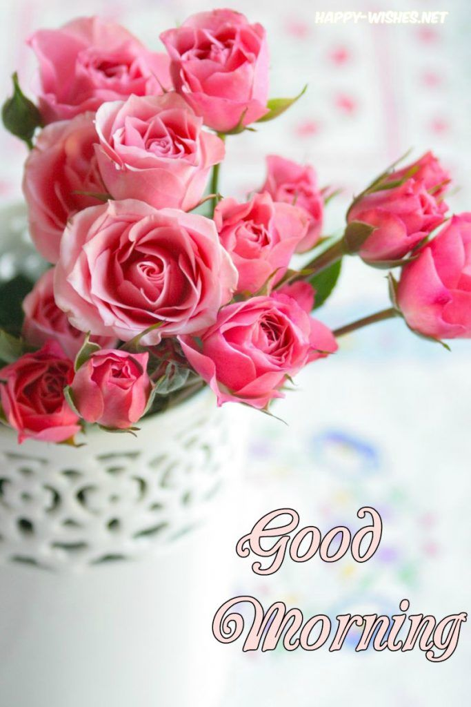 Good morning flowers with quotes