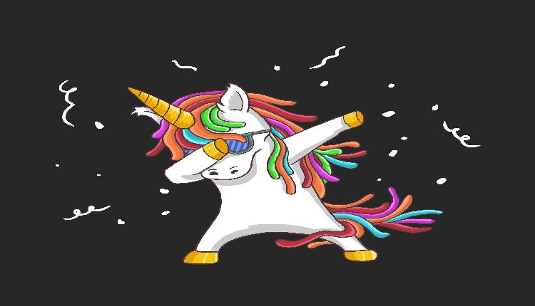 Unicorns pictures to color