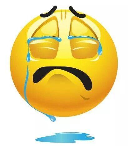 Caritas tristes llorando
