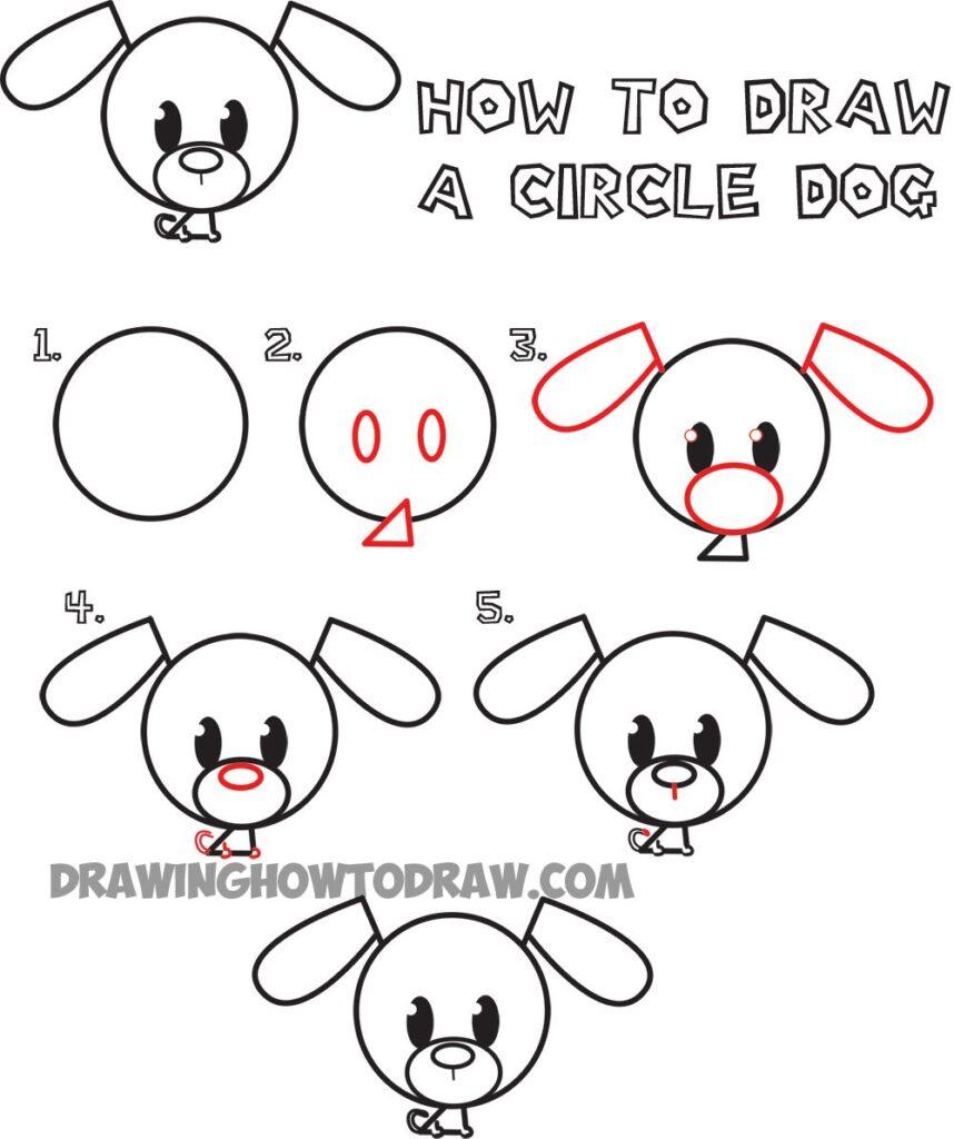 Como Dibujar un Perro Facil Paso a Paso