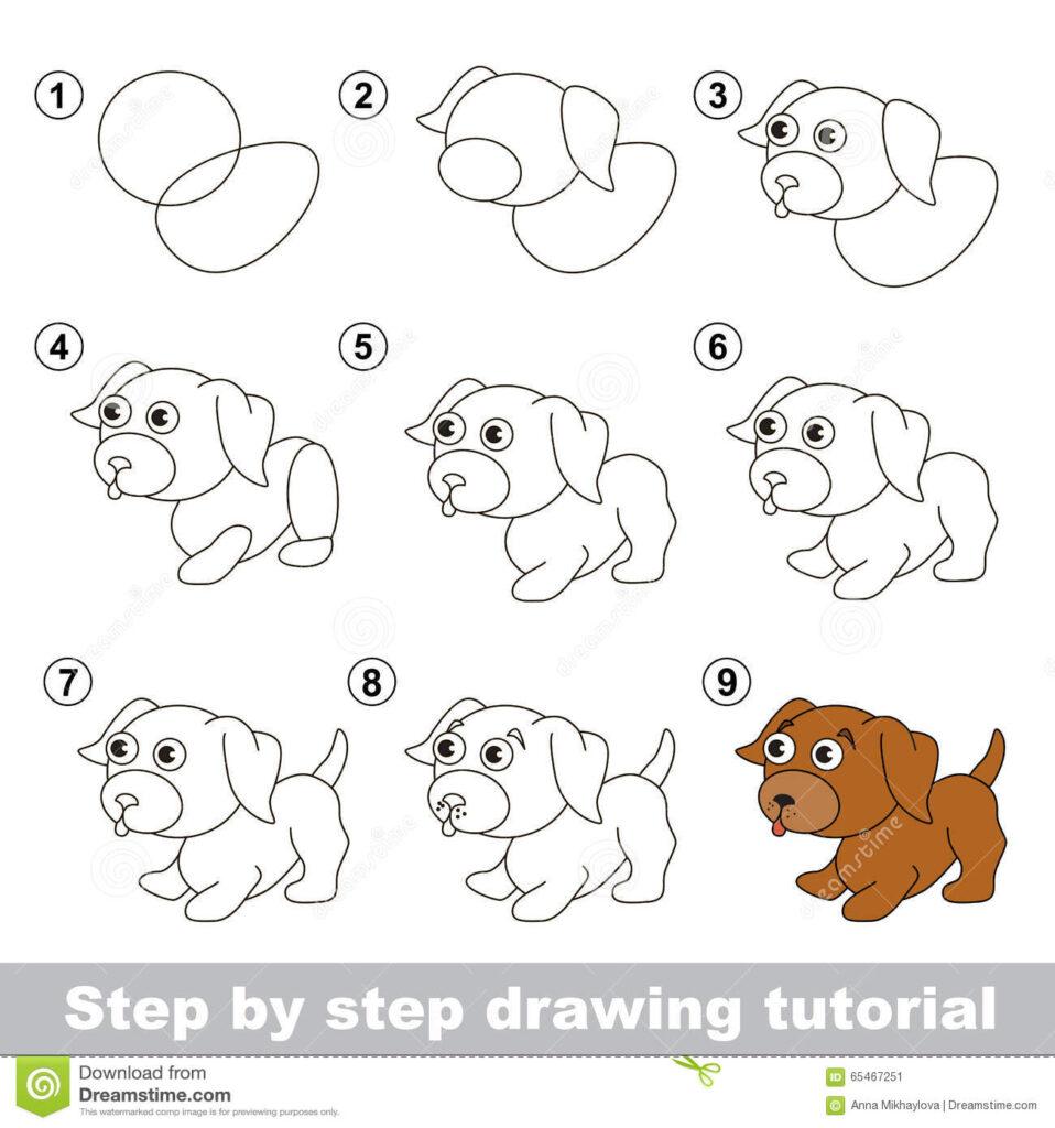 Como Dibujar un Perro Kawaii Facil Paso a Paso