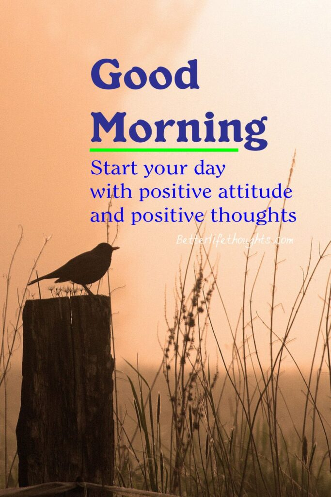 Good morning quotes positive vibes